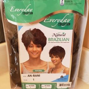 Short Black Brazilian Human Hair Wig